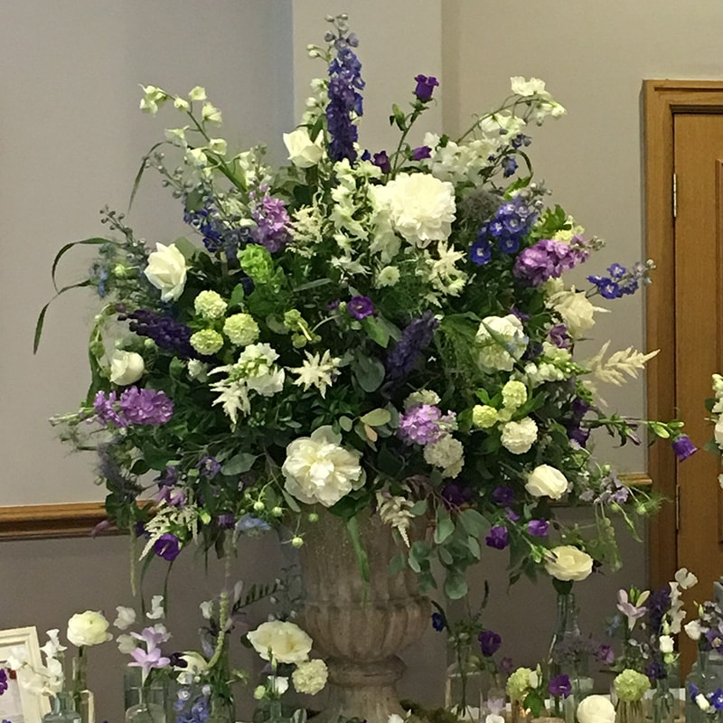 large urn floral display centrepiece